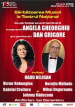 Concert Angela Gheorghiu si Dan Grigore la Teatrul National Bucuresti