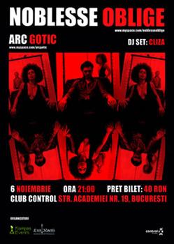 Concert Noblesse Oblige in Club Control din Bucuresti