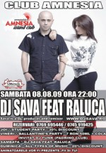 Dj Sava feat. Raluca in Club Amnesia din Radauti