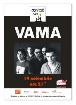 Concert Vama in Coyote Cafe din Bucuresti