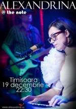 Concert Alexandrina in Club The Note din Timisoara