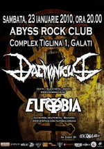 Concert Daemonicus & Eufobia in Abyss Rock Bar din Galati