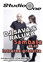 Concert Dj Sava & Raluka în Club Renaissance din Arad