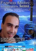 Concert Franco Midiri la Casa de Cultură a Sindicatelor din Suceava