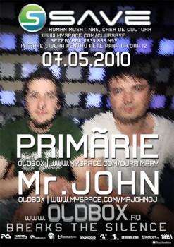 Primărie & Mr John în Save Club din Roman