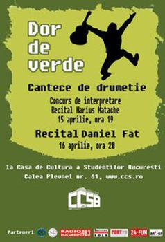 Dor de Verde la Casa de Cultură a Studenţilor din Bucureşti