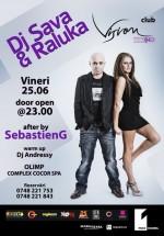 DJ Sava & Raluka în Club Vision din Neptun