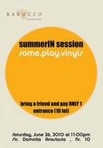 Some.play.vinyls la Barocco Bar din Bucureşti