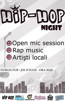 Hip-Hop Night la Dublin Pub din Iaşi