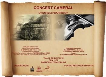 Concert Cameral Cvartetul Capricio la Bastionul Ţesătorilor Braşov