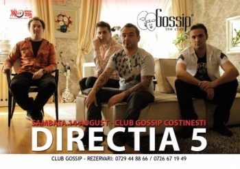 Concert Direcţia 5 în Club Gossip din Costineşti