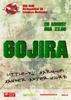 Gojira în Club Xen din Braşov