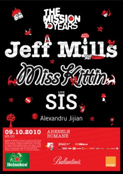 Jeff Mills, Miss Kittin & Sis la Arenele Romane din Bucureşti