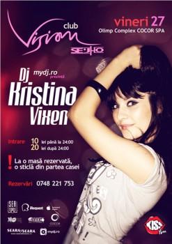 DJ Kristina Vixen în Club Vision din Neptun