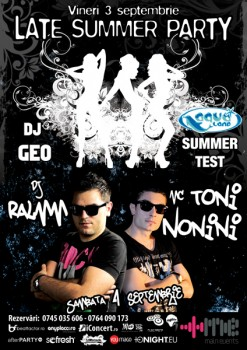 Late Summer Party şi Summer Test la Aqua Club din Focşani