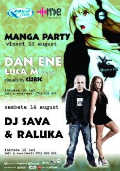Manga Party şi DJ Sava & Raluka la Aqua Club din Focşani