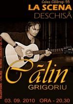 Concert Călin Grigoriu în La Scena din Bucureşti