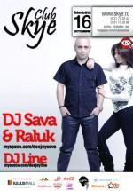 Concert DJ Sava & Raluka la Club Skye din Iaşi