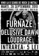 Concert Furnaze, Delusive Dawn & Loudrage în Roland Garros din Cluj-Napoca