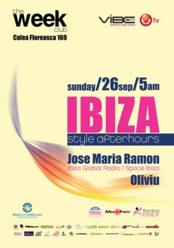 Ibiza Style Afterhours la The Week Club din Bucureşti