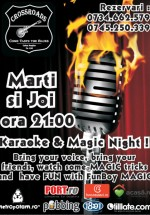 Karaoke & Magic Night la 100 Crossroads din Bucureşti