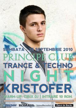 Kristofer în Club Principe din Bacău