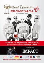 Concert Voltaj şi Impact la Promenada Mall din Focşani