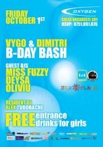 Vygo & Dimitri B-Day Bash în Club Oxygen din Bucureşti