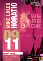 We Are Back Reopening Club XS din Iaşi