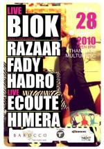 BioK, Ecoute & Himera în Barocco Bar din Bucureşti