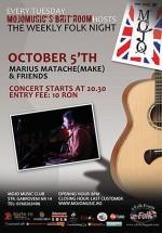 Concert Marius Matache & Friends în Club Mojo-Brit Room din Bucureşti