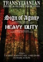 Concert Sign Of Agony & Heavy Duty la John's Cafe din Deva