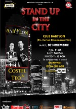 Stand-up in the City în Club Babylon din Suceava