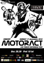 Concert MotorACT în Pub Subway din Bacău