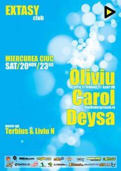 Arry, Oliviu, Carol & Deysa în Cuba Lounge din Miercurea Ciuc
