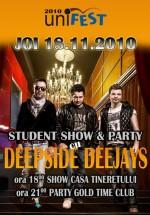 Student Show & Party la Casa Tineretului şi Gold Time Club din Baia Mare