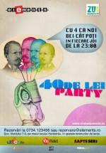 40 de lei Party la Club Elements din Bucureşti