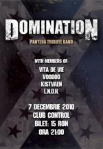 Concert Domination la Club Control din Bucureşti