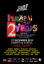 Happy 2 Years Club Action la Club Embryo din Bucureşti