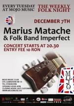 Concert Marius Matache la Club Mojo-Brit Room din Bucureşti