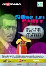 50 de lei Party în Club Elements din Bucureşti
