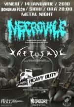Concert Necrovile, Krepuskul & Heavy Duty la Bohemian Flow din Sibiu