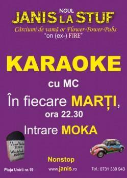 Karaoke cu MC la Janis la Stuf din Cluj-Napoca