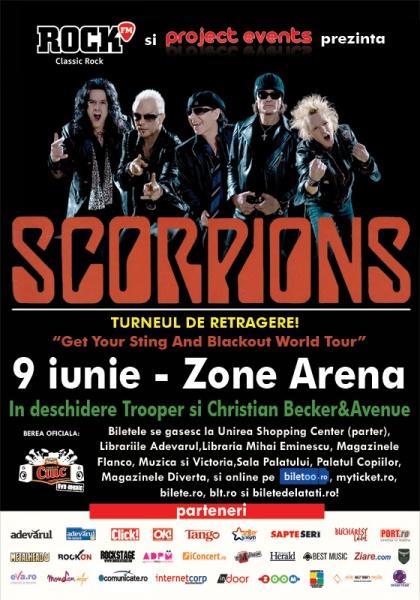 Bilete concert Scorpions Bucureşti