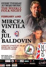 Concert Mircea Vintilă şi Jul Baldovin în Club Mojo-Brit Room din Bucureşti