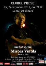 Concert Mircea Vintilă la Clubul Presei din Iaşi
