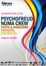 Psychofreud şi Numa Crew în Club Fabrica din Bucureşti