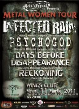 Metal Women Tour în Wings Club Bucureşti