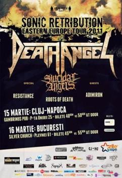 Concert Death Angel şi Suicidal Angels în Gambrinus Pub în Cluj-Napoca