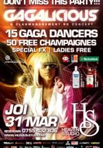 Gagalicious – Gaga Night în Heaven Studio din Timişoara